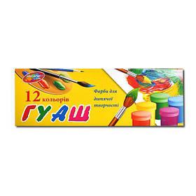 Гуашь 12цв 20мл Колорит