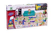 Железная дорога для малышей с перекрестком и краном, 98 элементов, фото 3