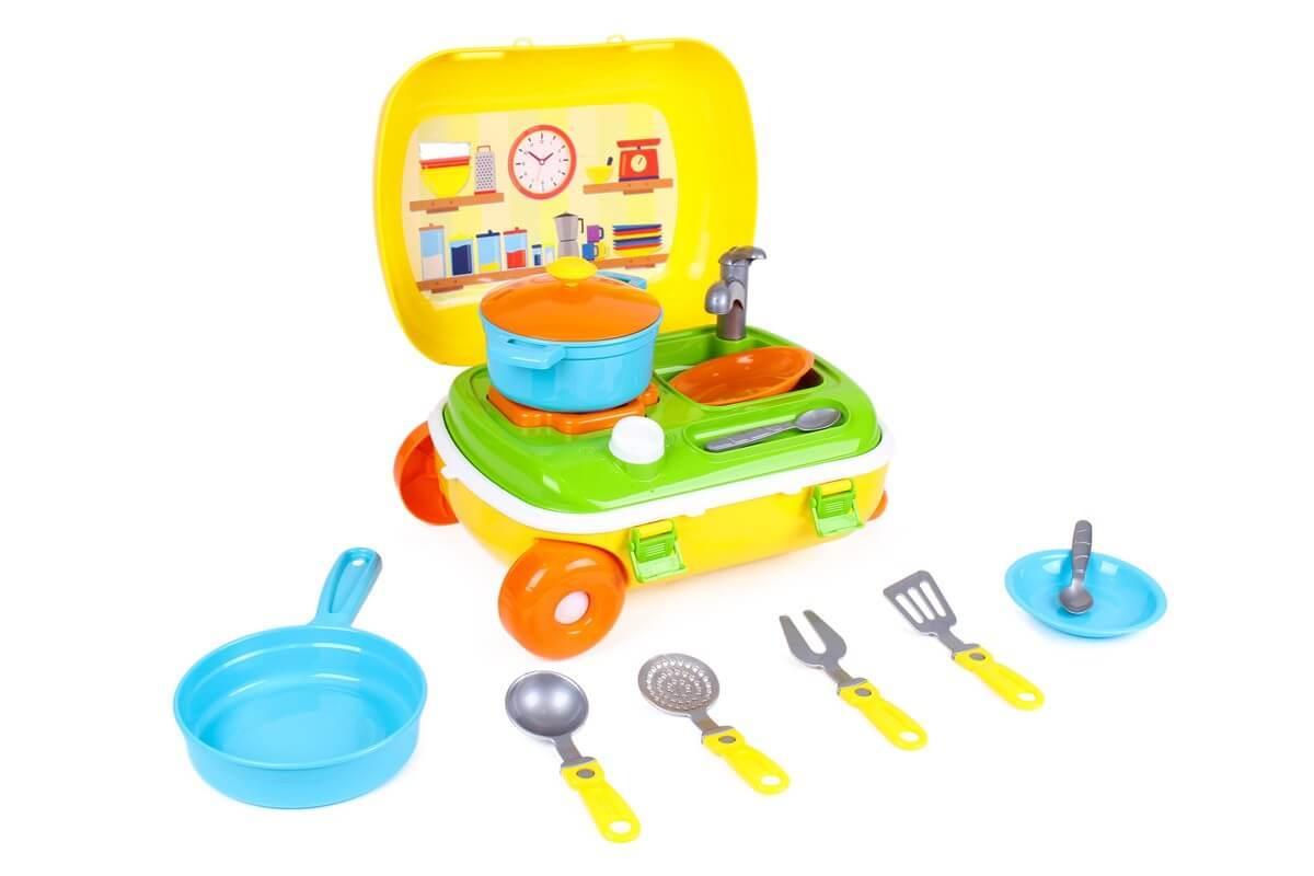 """Іграшка кухня """"Кухня с набором посуды Технок"""""""