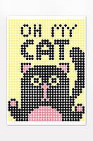 """*Картина по номерам стикерами в тубусе """"Кот"""", 33х48см, 1200 стикеров., фото 3"""