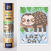 "*Картина по номерам стикерами в тубусе ""Ленивец"", 33х48см, 1200 стикеров., фото 2"