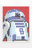 "*Картина по номерам стикерами в тубусе ""Робот синий"", 33х48см, 1200 стикеров., фото 3"
