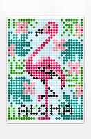 "*Картина по номерам стикерами в тубусе ""Фламинго"", 33х48см, 1200 стикеров., фото 3"