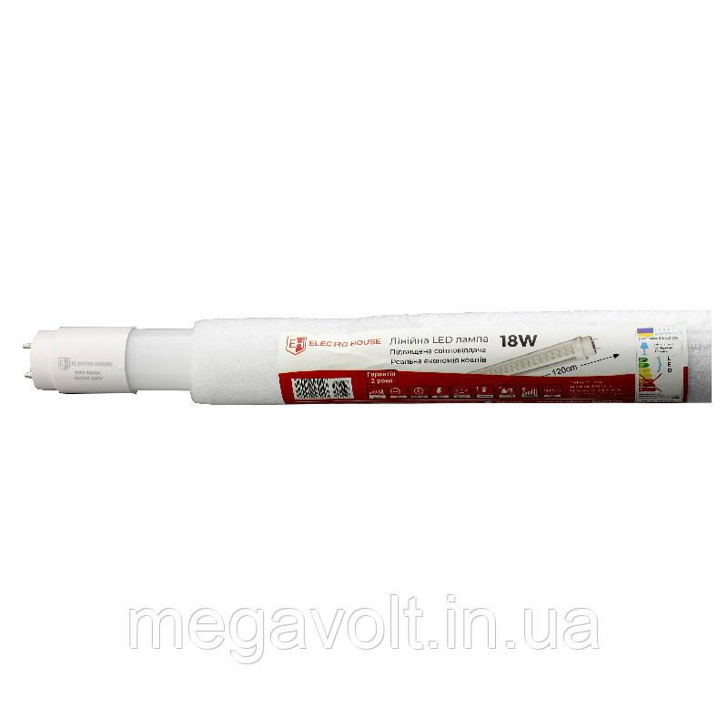 LED лампа линейная T8 18W 6500K 1620Lm 120 см