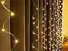 Гірлянда Кінський хвіст, LED 200 лампочок/ 20нитей по 2м/ Теплий білий/ 220V, фото 2