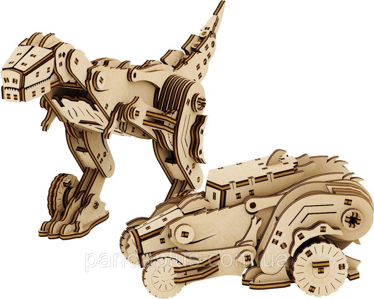 "Деревянный конструктор ""Трансформер: Динокар"", 206 эл Mr.Playwood 10105"