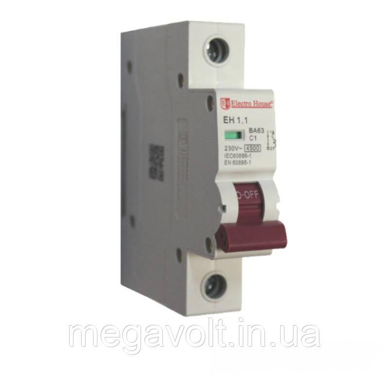 Автоматический выключатель 1P 1A 4,5kA 220-240V IP20