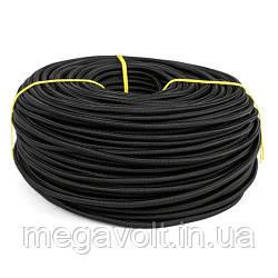 Провод в текстильной оплетке 2х0,5 черный