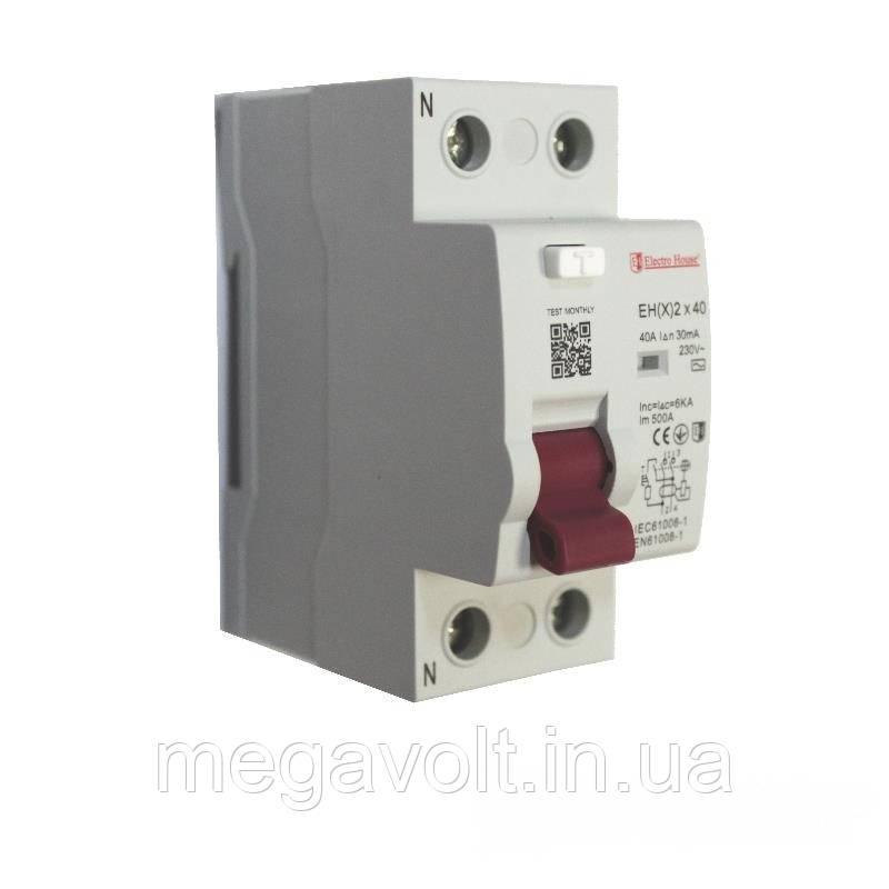 УЗО 2P 40A 30mA 230-400V IP20