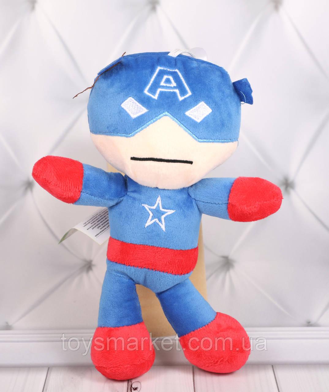 Мягкая игрушка Капитан Америка, плюшевая игрушка Капитан Америка, 25 см.
