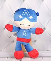 Мягкая игрушка Капитан Америка, плюшевая игрушка Капитан Америка, 25 см., фото 1