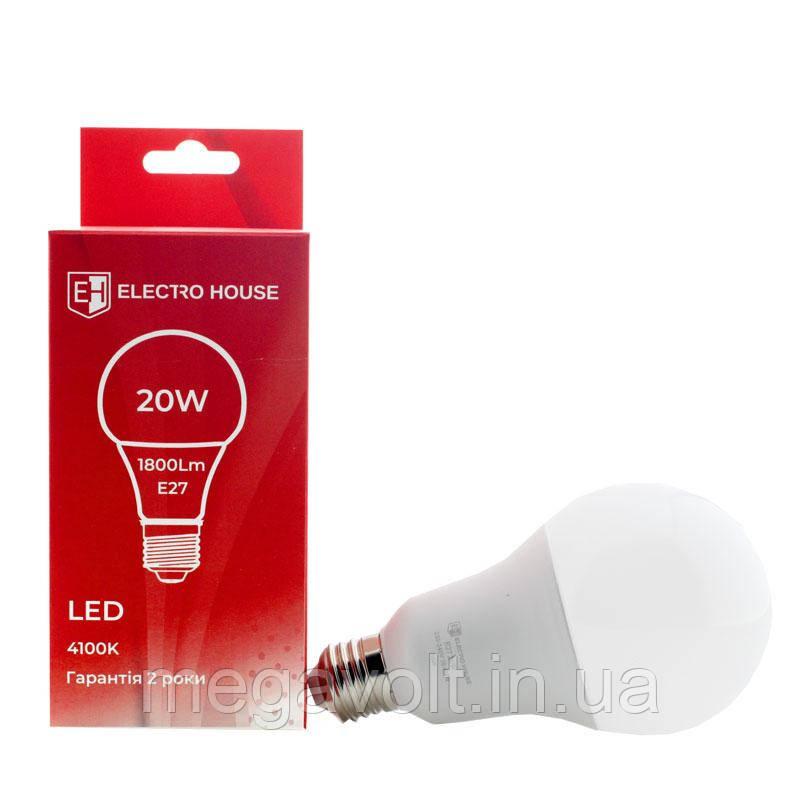 LED лампа E27 / 4100K / 20W 1800Lm /220° A95