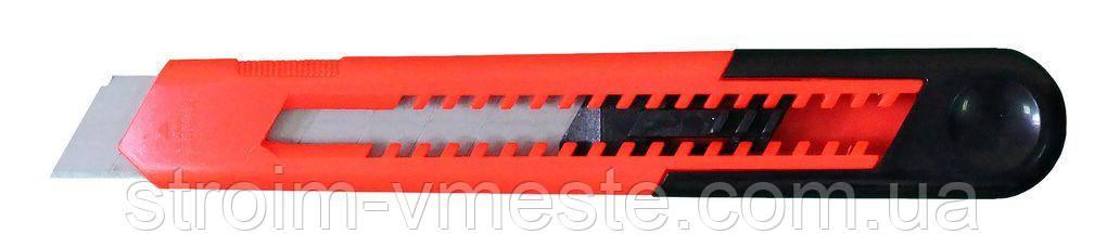 Нож канцелярский с автофиксатором NORMA 4514 18 мм красный