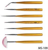 Набор нейлоновых кистей для дизайна и рисования на ногтях Lady Victory LDV MS-109 /8-2