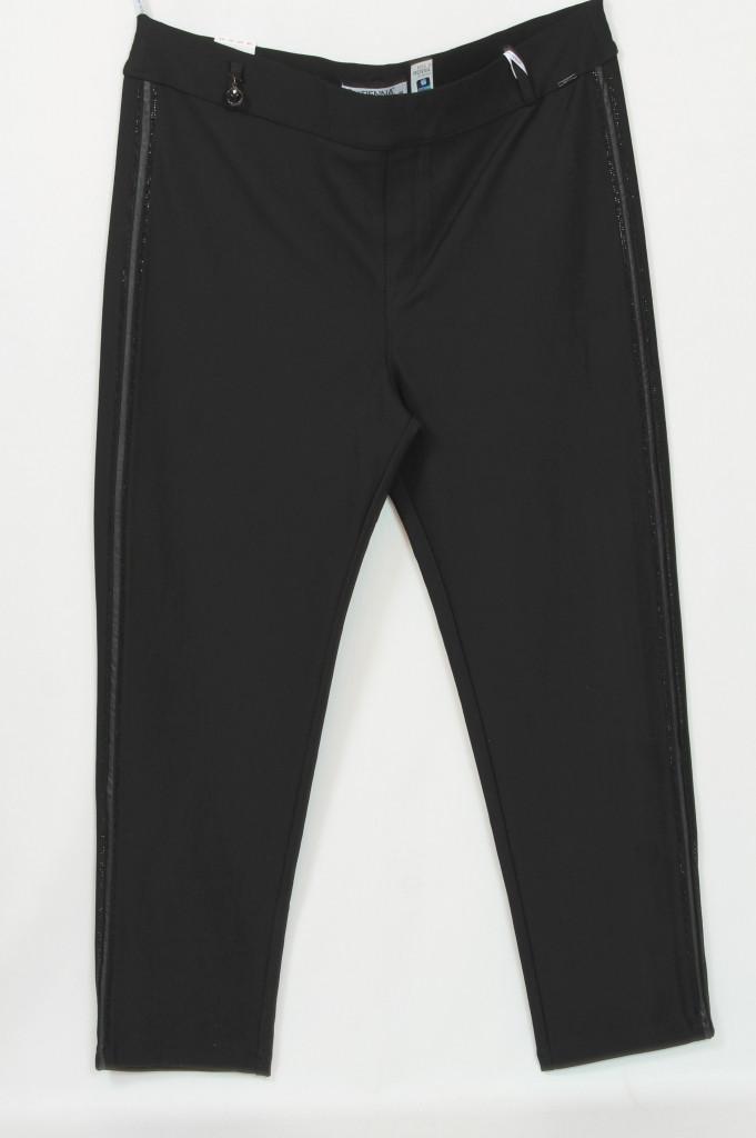Турецкие женские брюки с лампасами из страз больших размеров 64-72