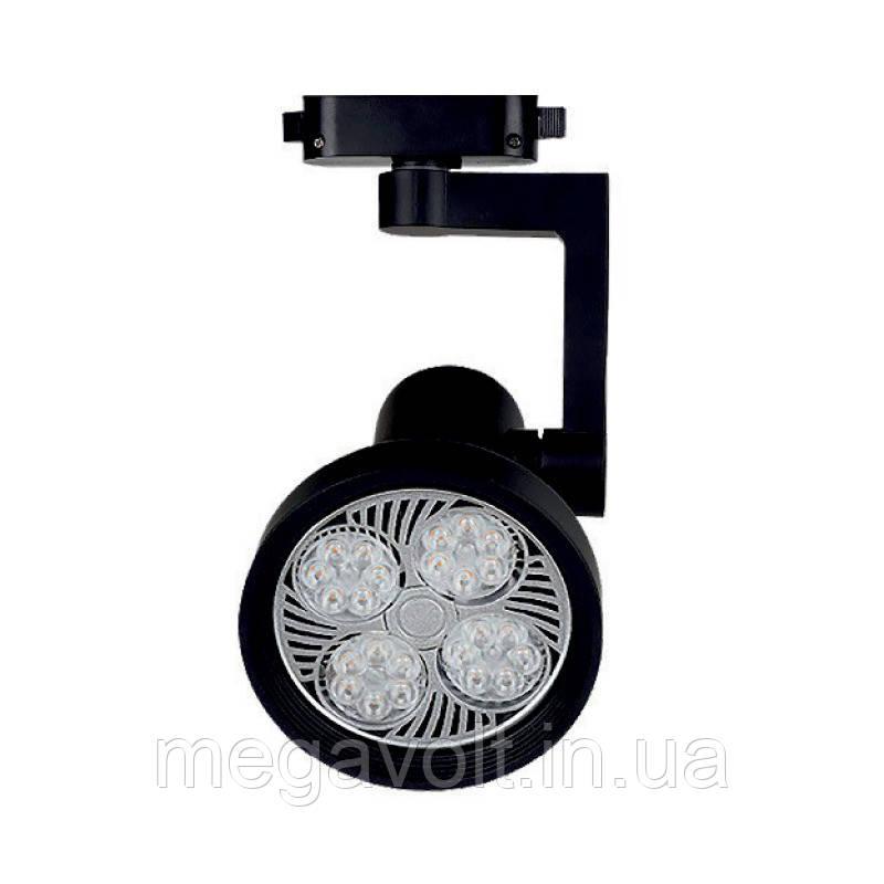 Трековый LED светильник 25W черный 4100K 2000Lm