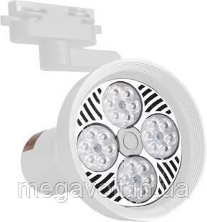Трековый LED светильник 25W белый со сменной лампой 4100K 2000Lm