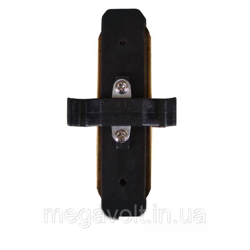 Коннектор для трекового LED светильника  прямой черный
