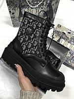 DIOR EXPLORER ANKLE BOOT чёрные демисезонные Ботинки женские