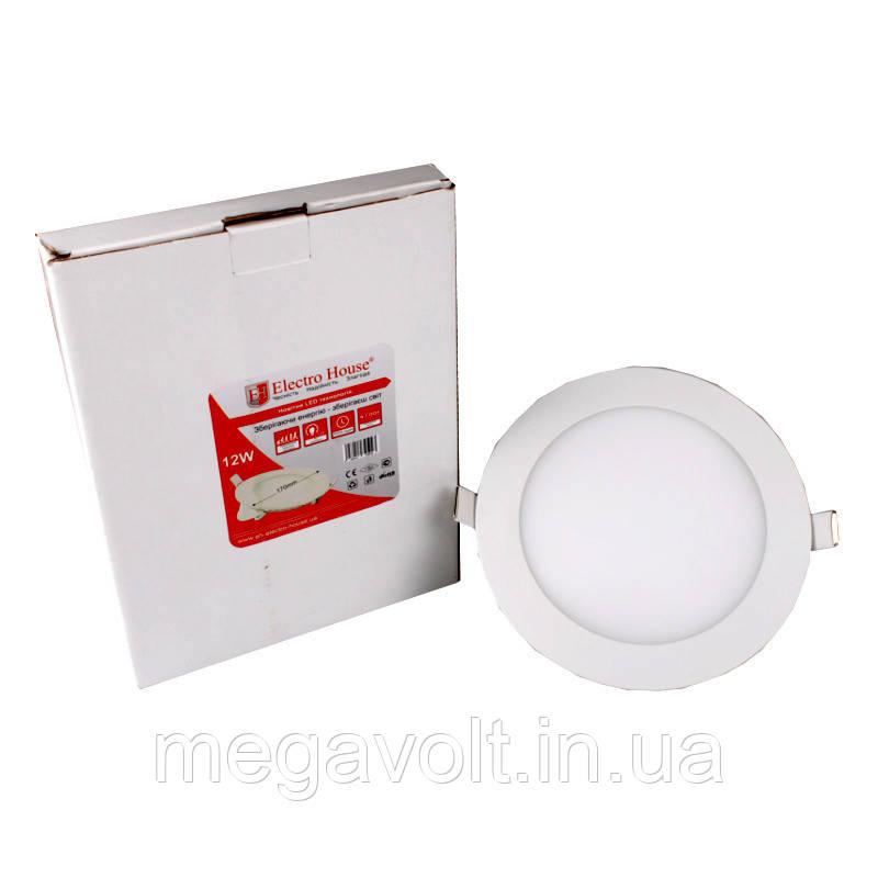 LED панель круглая 12W 4100К 1080Lm Ø 170мм