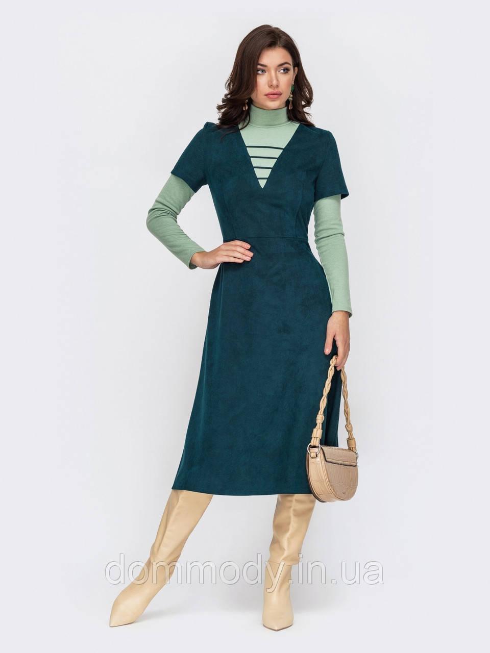 Платье женское Aged green