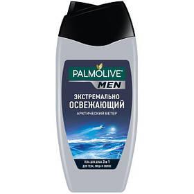 Гель для душа Палмолив Palmolive Men Арктический ветер 3 в 1 для тела, лица и волос 250 мл