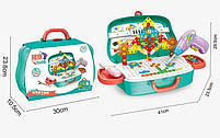 Дитячий ігровий набір Happy Dresser Юний перукар набір для дівчаток у валізці, фото 2