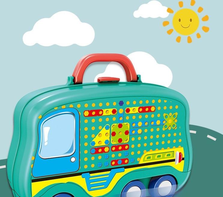 Дитячий ігровий набір Happy Dresser Юний перукар набір для дівчаток у валізці