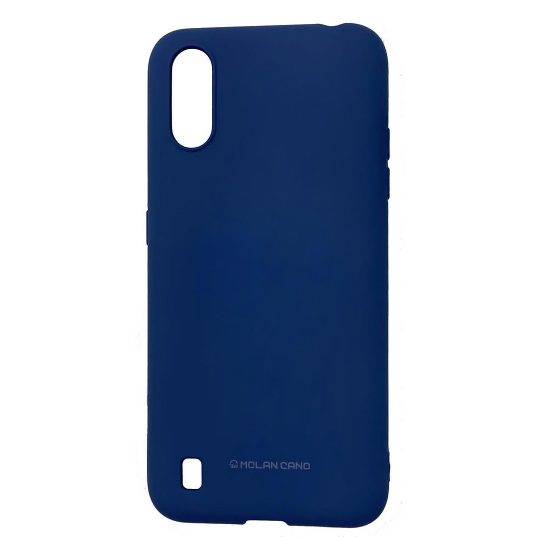 Силиконовый чехол для Samsung Galaxy A01 (SM-A015), Molan Cano, синий