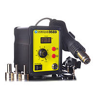 Паяльная станция Gordak 958D термофен для пайки 700W пайка SMD, BGA, QFP, металлический корпус