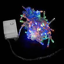 Гирлянда Светодиодная Новогодняя 100LED 5m прозрачная IP20 Мульти