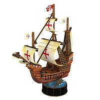 Трехмерная головоломка-конструктор корабль Санта Мария cubicfun (T4031h), фото 2
