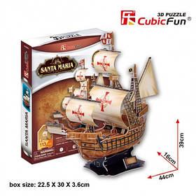 Тривимірна головоломка-конструктор корабель Санта Марія cubicfun (T4031h)
