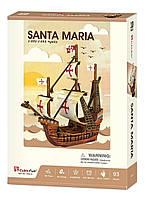 Трехмерная головоломка-конструктор корабль Санта Мария cubicfun (T4031h), фото 3