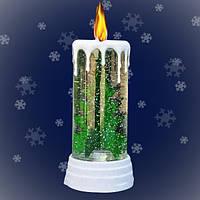 """Новогодний декоративный фонарь """"Новогодняя Свеча"""" с LED подсветкой, 27 см"""