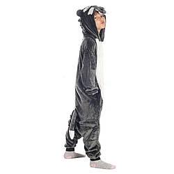Кигуруми піжама дитяча для хлопчиків Вовк цілісна