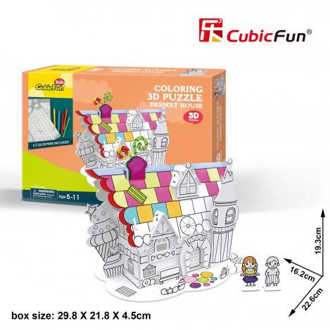 Трехмерная головоломка-конструктор cubicfun десертный дом (P688h)