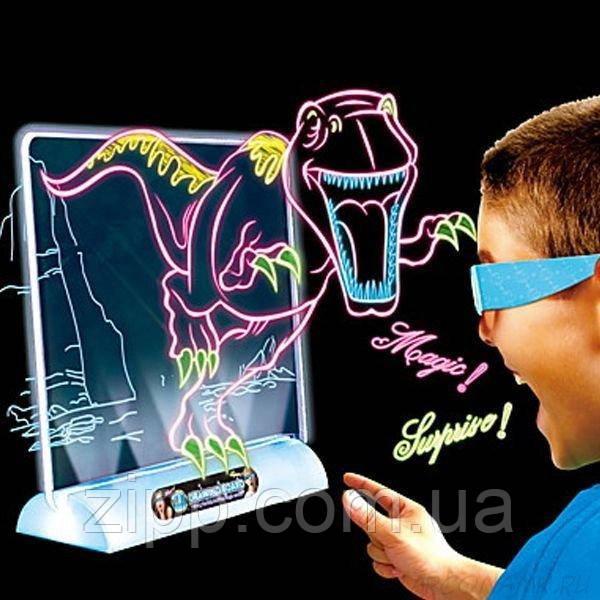 Магічна 3D дошка для малювання Magic Drawing Board   3D дошка для малювання   3D Планшет для малювання