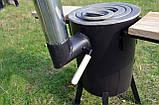 Печь под казан ТРОЯН ПРО с дымоходом, фото 4
