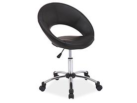 Крісло поворотне Signal Q-128 / Чорний OBRQ128CZ