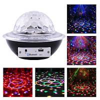 Лазер диско CY-6740 UFO Bluetooth crystal magic ball, 220V, пульт Д/У, фото 1