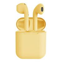 Бездротові навушники TWS i12 (Жовтий)