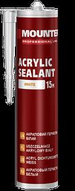 Акриловый герметик Mounter 280 мл белый качественный