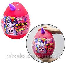Набір для творчості яйце сюрприз єдинорога 30 см Unicor surprise box, фото 3