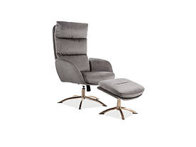 Кресло Signal Monroe Velvet / Серый