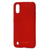 Силиконовый чехол для Samsung Galaxy A01 (SM-A015), Molan Cano, красный
