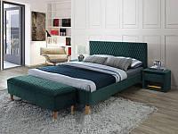 Кровать Signal Azurro Velvet / 160х200 / Зеленый / Дуб (Bluvel 78) AZURROV160ZD