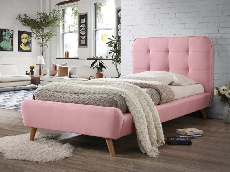 Кровать Signal Tiffany / 90х200 / Розовый / Дуб