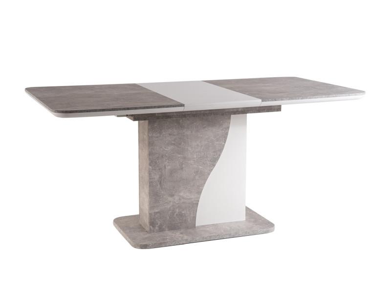 Стол Signal Syriusz / Серый (эффект бетона) / Белый