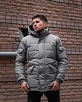 Куртка парка мужская зима серая Киев